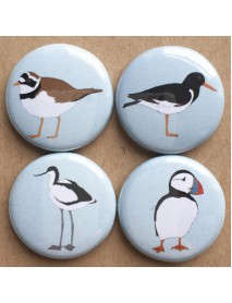 Coastal bird badges