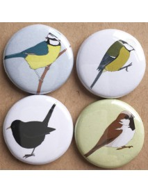 Garden bird badges