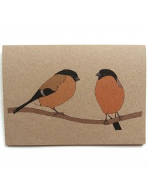 Two Bullfinches card