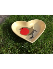 I Love Robins ceramic dish