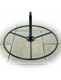 Patio base for feeding station pole
