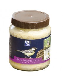 Peanut butter jar for birds - with mealworms