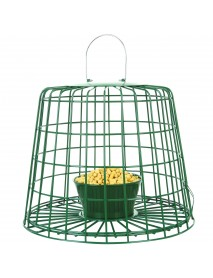 Suet pellet & mealworm feeder with guardian